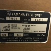 Yamaha 315d-1 for Sale