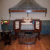 Hauptwerk 4-manual console with Hereford sample set